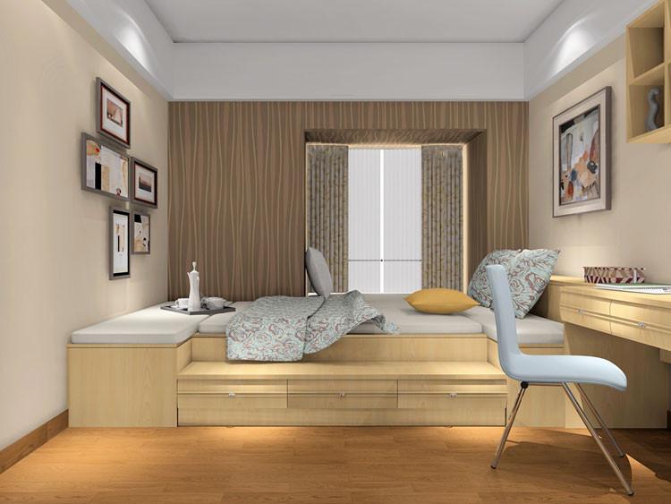 尚品宅配 榻榻米卧室 卧室家具套装组合 掩门衣柜 整体卧室 特价