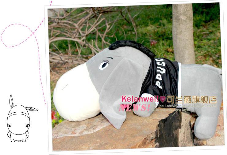 可兰薇 毛驴公仔 布娃娃 毛绒玩具 小毛驴靠枕 抱枕 创意生日礼物 女