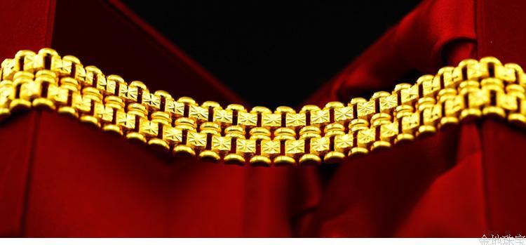 金男士黄金手链