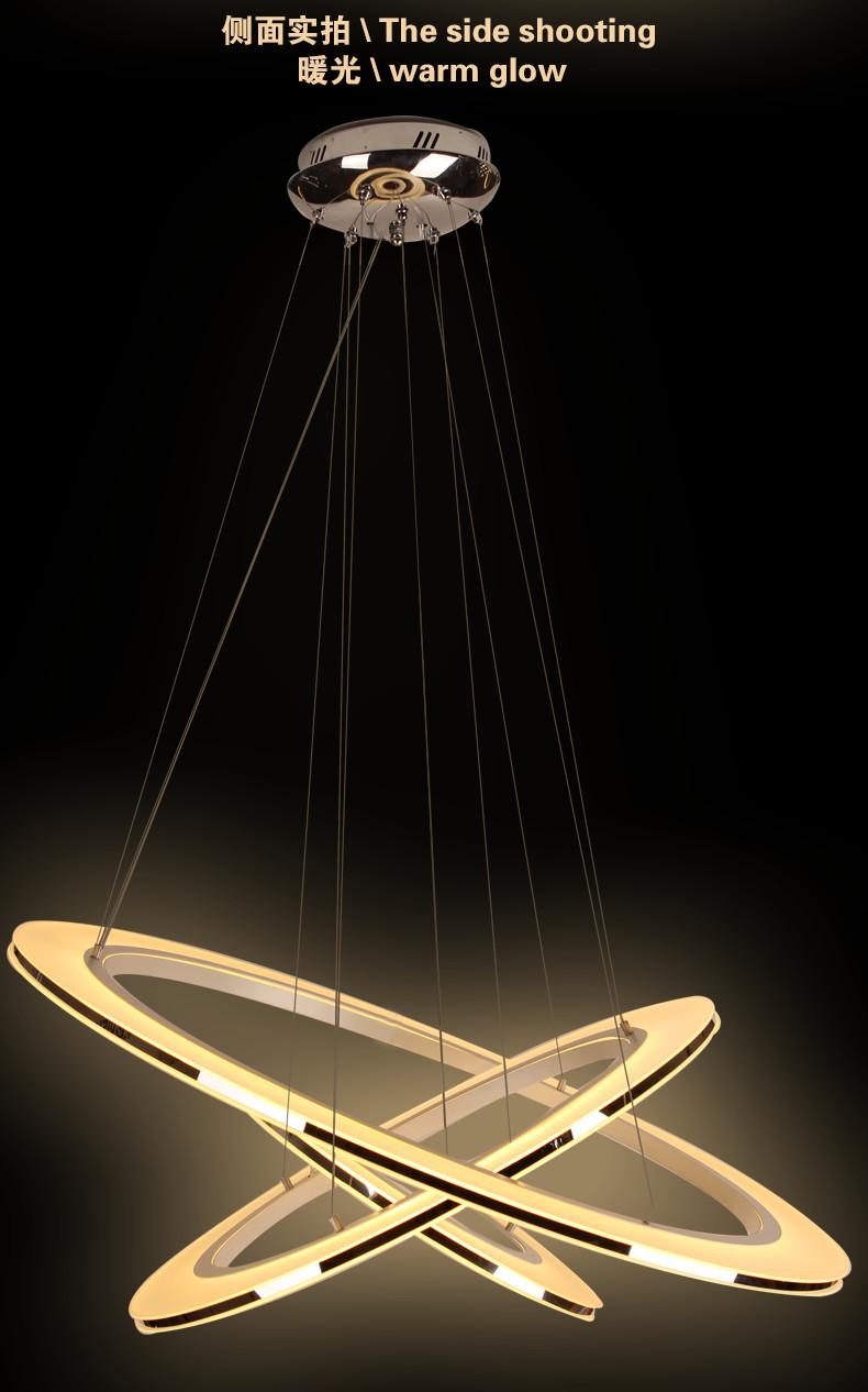 半缕光坊 led吊灯md8166a 圆环形创意亚克力灯具(正白光,外环 中环)图片