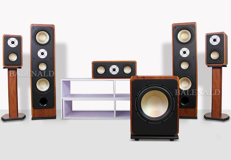 1家庭影院音响套装12寸低音炮hifi发烧落地音箱配3d高清功放器