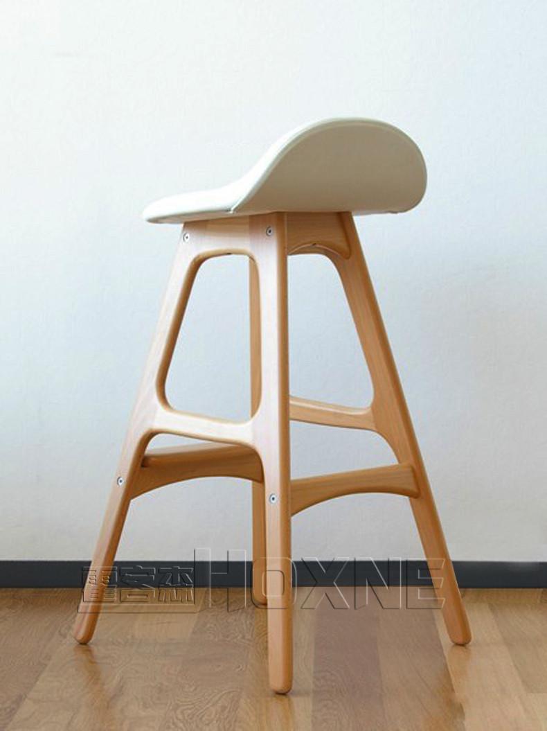 霍客森eric buch bar stool 休闲实木吧椅 时尚吧椅 简洁大方pu皮