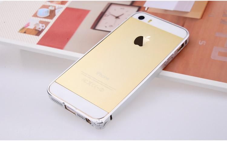 comma魅影超薄金属边框苹果iphone5/5s 太空银
