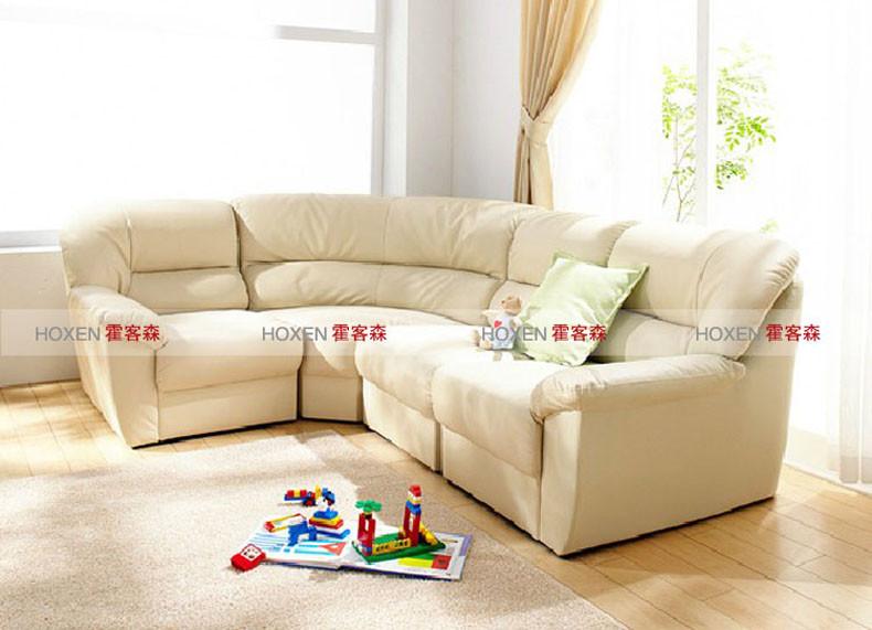 霍客森 日式l转角组合沙发 皮沙发超大客厅时尚休闲沙发 多人组合沙发