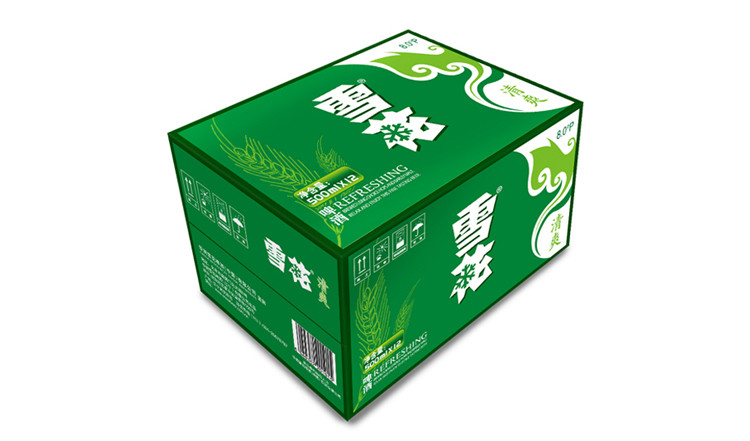 雪花啤酒(snowbeer) 8度清爽500ml*12听整箱装