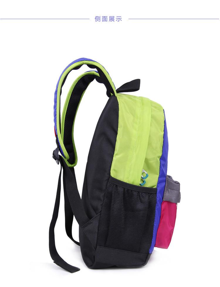 奥王撞色双肩包韩版潮中小学生书包可爱背包小双肩包儿童背包书包 yj图片