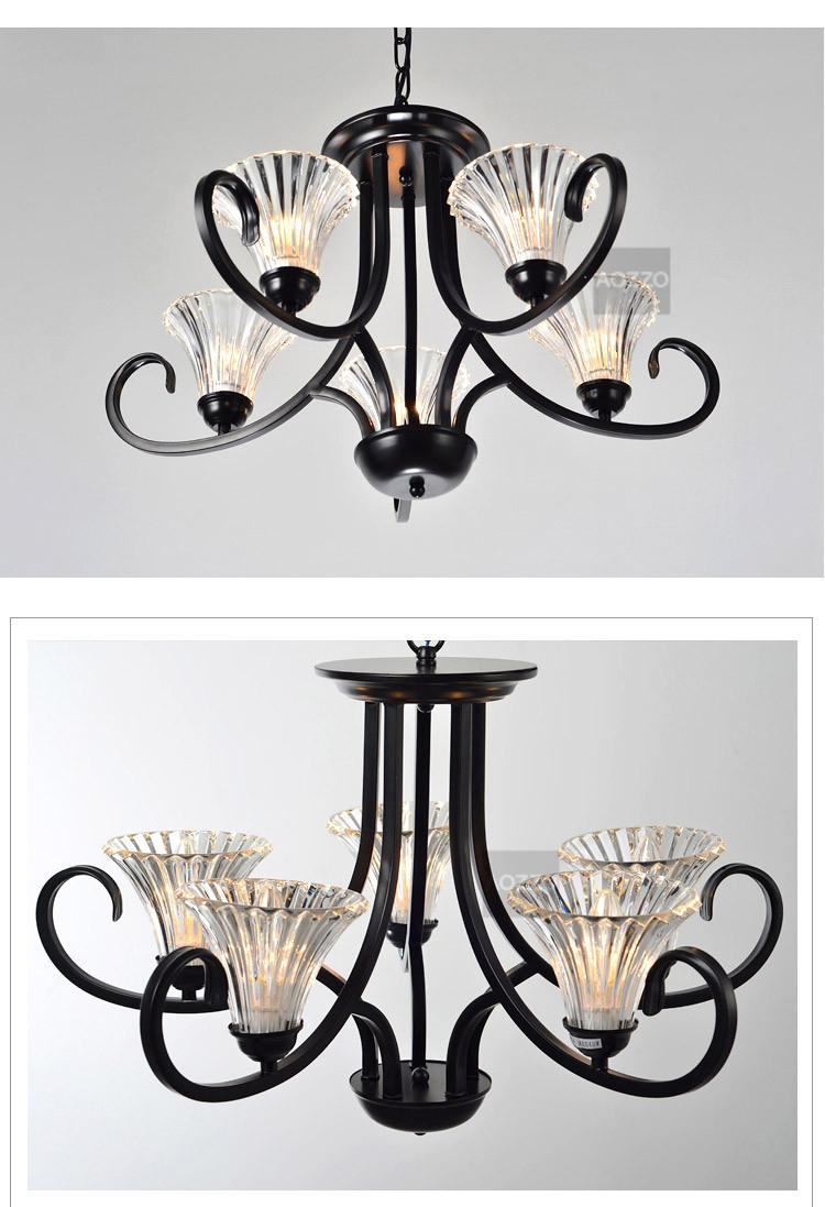 欧式复古铁艺led吊灯具卧室灯餐厅