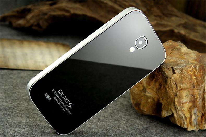 vipin 三星i9500钢化玻璃后盖手机壳金属手机边框 三星s4金属边框钢化