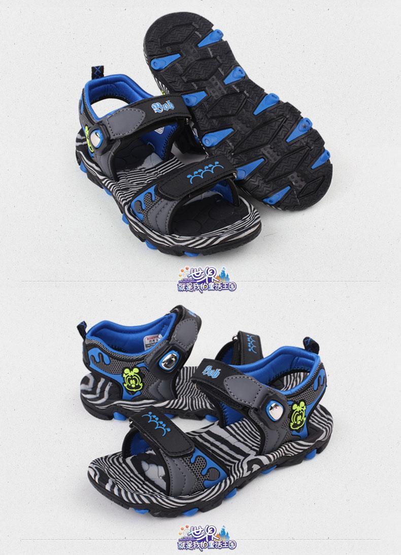 时尚磁扣凉鞋 巴布豆童鞋男童凉鞋儿童小童沙滩鞋 2015潮男生凉鞋包邮