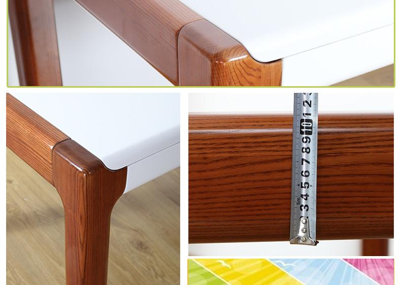光明实木家具简约餐桌椅组合