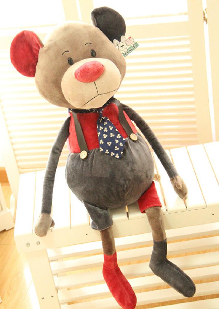 可爱卡通创意个性兔子老鼠熊毛绒玩具公仔布娃娃
