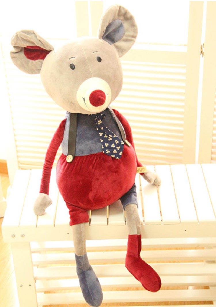 白领公社 可爱卡通创意个性大象兔子老鼠熊毛绒玩具公仔布娃娃 兔子80