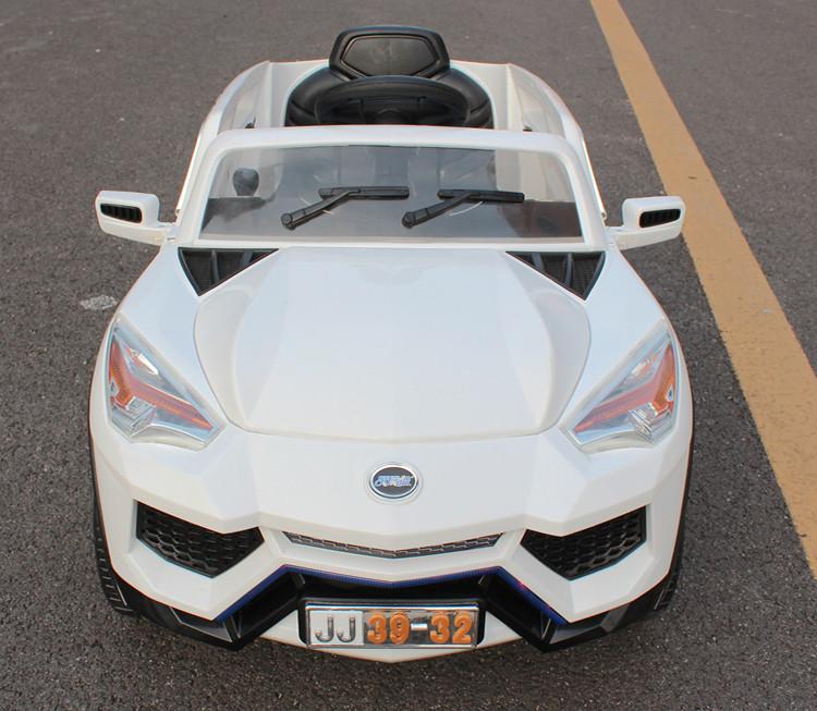 儿童电动车四轮电动汽车童车带遥控双驱可坐人玩具车 桔色双驱儿童电高清图片