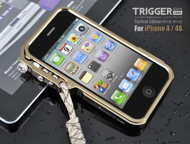 iphone5保护套 苹果5s手机壳套 保护壳外壳 机械臂 金属边框 硬汉