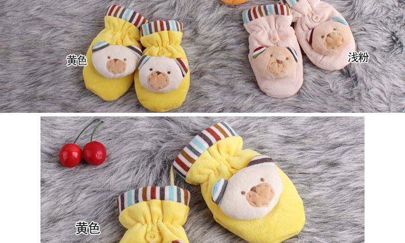 百瑞欧 3-6岁儿童宝宝卡通手套挂脖可爱冬季保暖男女款加绒厚韩版