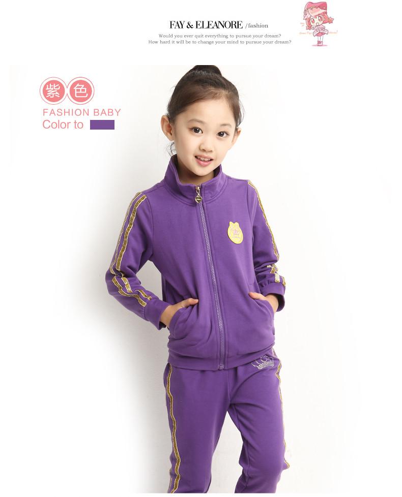 朵琪宝贝童装女童秋装套装2014新款韩版儿童服装4-8