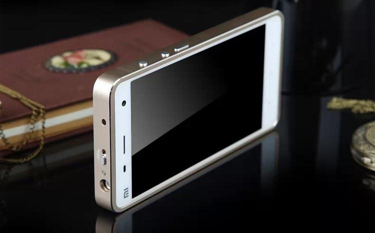 小米4手机保护壳 金属边框钢化玻璃后盖 小米4手机壳