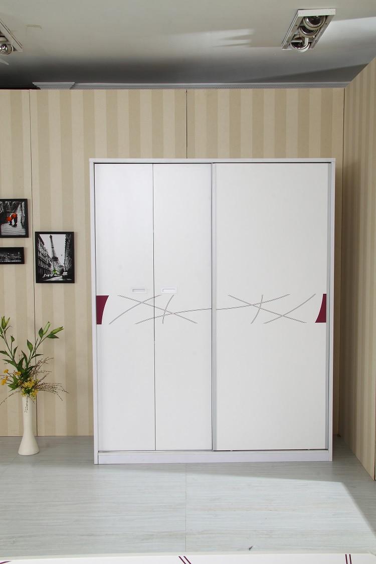 烤漆推拉门衣柜白色烤漆衣柜图片7