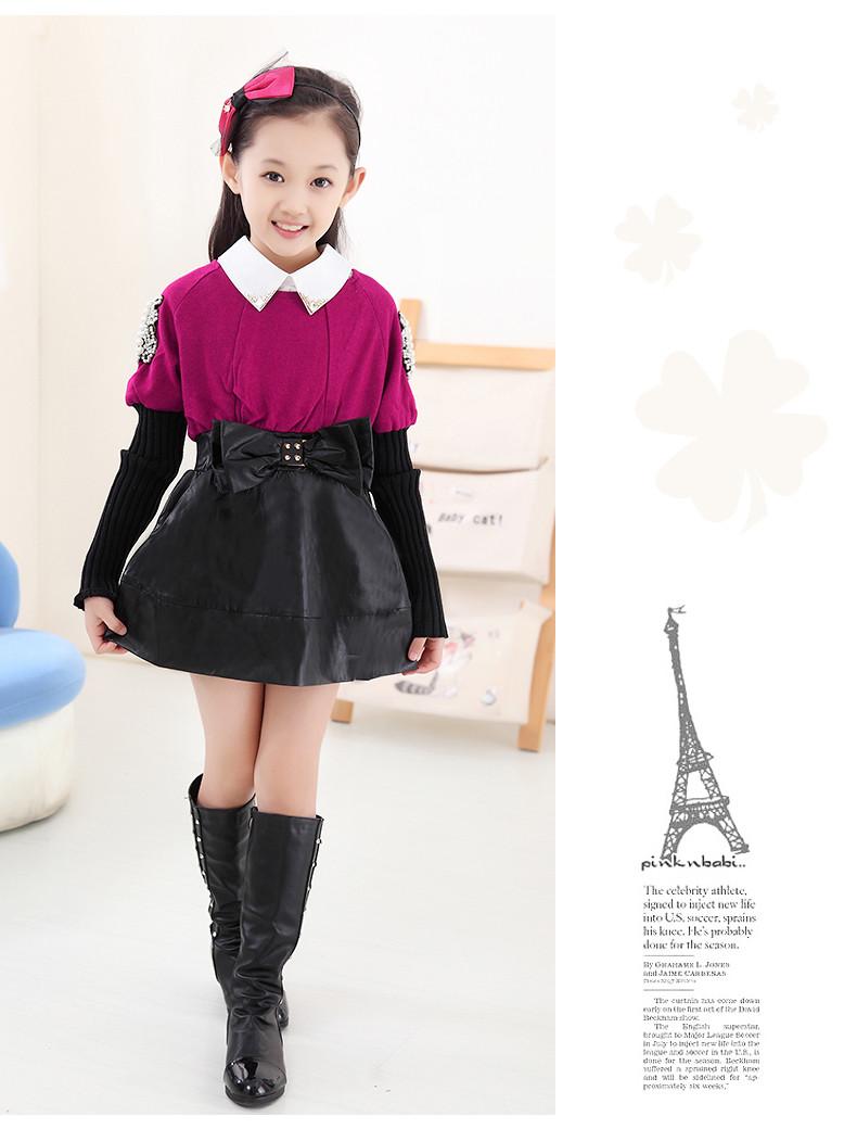2014新款童装女童秋装连衣裙韩版儿童长袖裙子宝宝裙