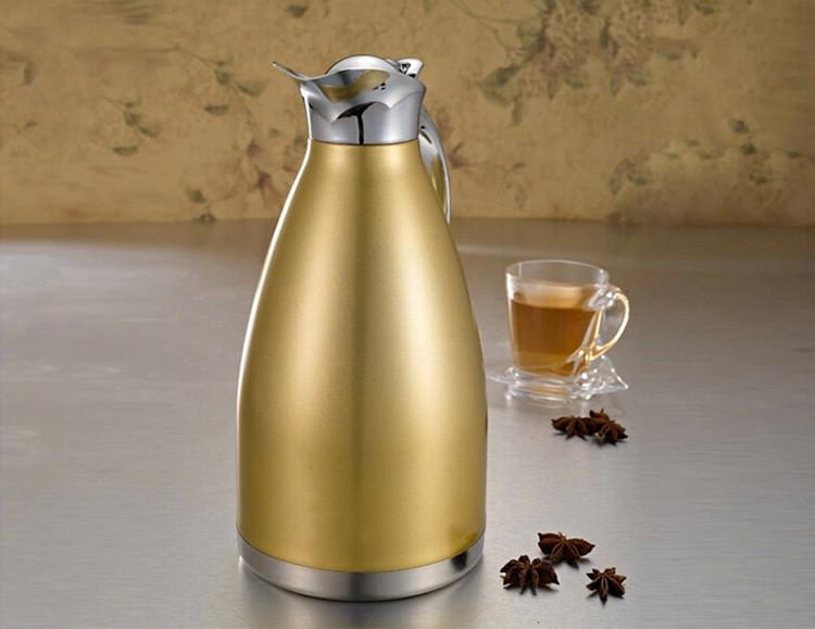 拜格不锈钢欧式真空保温壶水壶