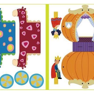 7岁儿童的创意手工玩具书,全套3本,主题分别是:小公主,酷手工,动物园
