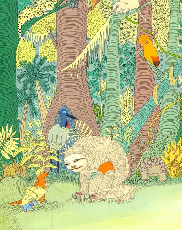 123 香蕉火箭科学图画书 热带雨林动物探险队
