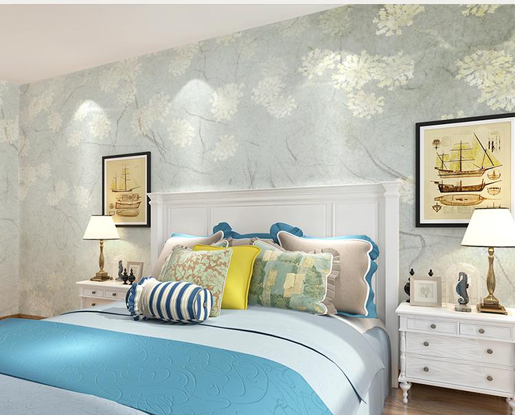 卡茵 定制美式复古花卉墙纸 客厅电视背景墙壁画 沙发图片