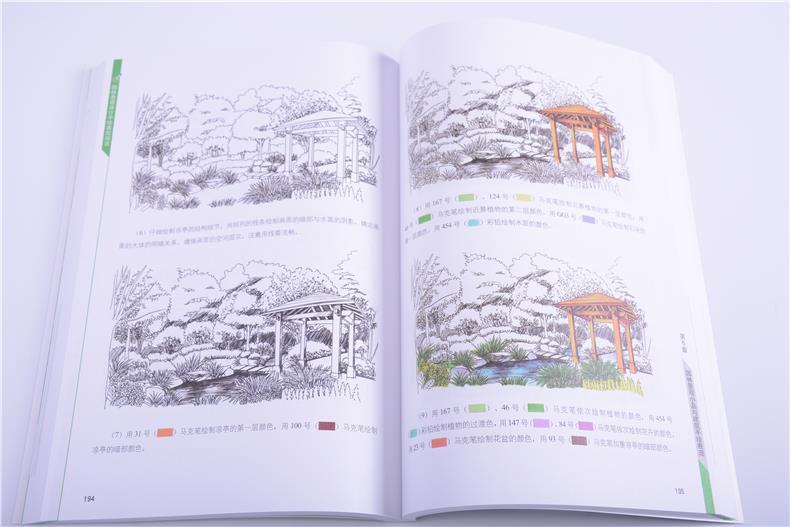 123 园林景观设计手绘表现技法