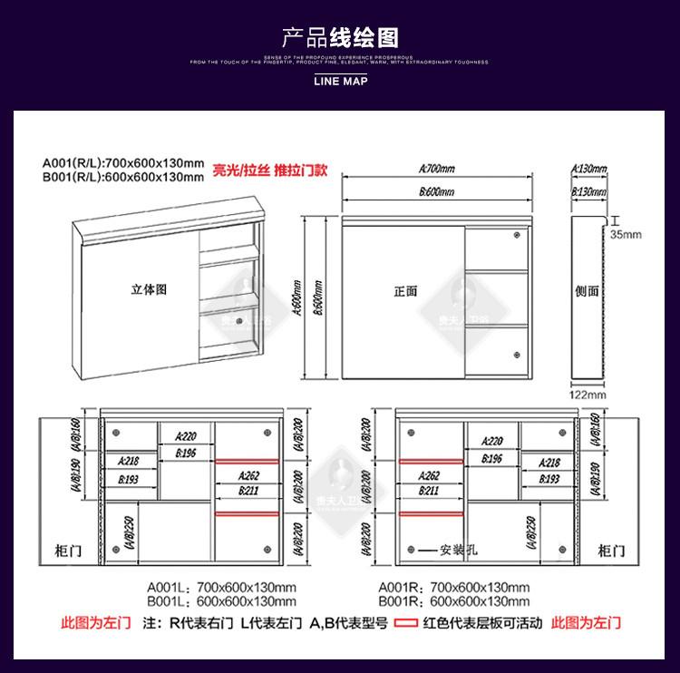 人(GFR)现代不锈钢镜柜浴室柜镜子卫生间收含义层的图.CAD图片