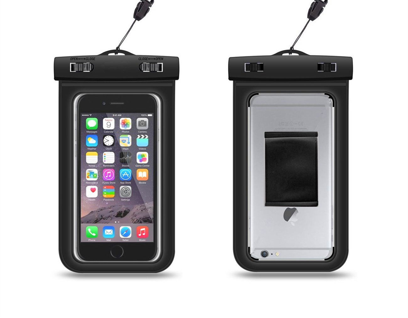 水袋防手机手机臂带挂绳防水袋4.5寸-5.7寸通华为麦特10新手机充电图片