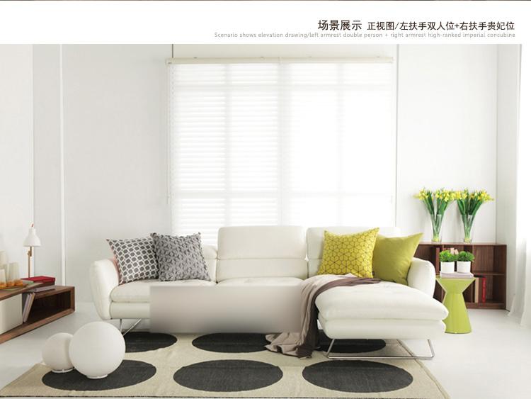 淮木客厅小转角皮沙发v客厅沙发户型皮艺时尚嘉实木家具何室材质豪图片