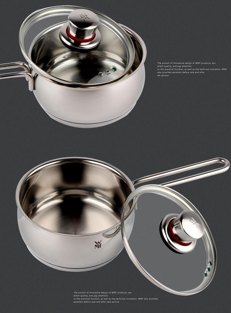 德国原装进口wmf福腾宝16cm不锈钢奶锅小炖锅汤锅具1.