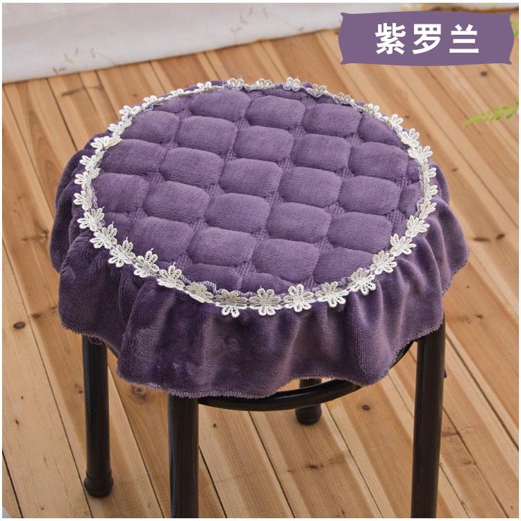 圆形坐垫 圆形椅子垫 椅子坐垫 圆凳坐垫 花边餐椅垫