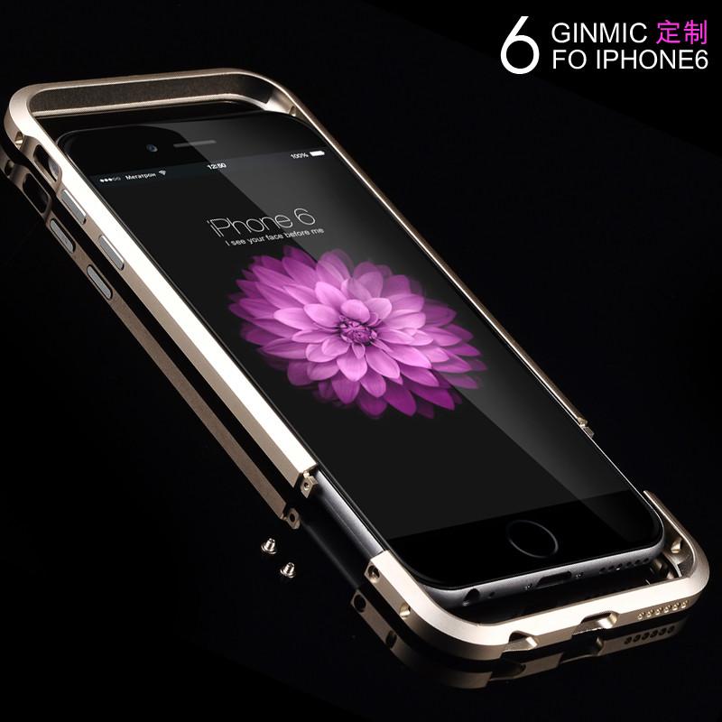 iphone6 plus 金属边框 后盖保护壳 金属边框iphone 6 plu 黑色5.