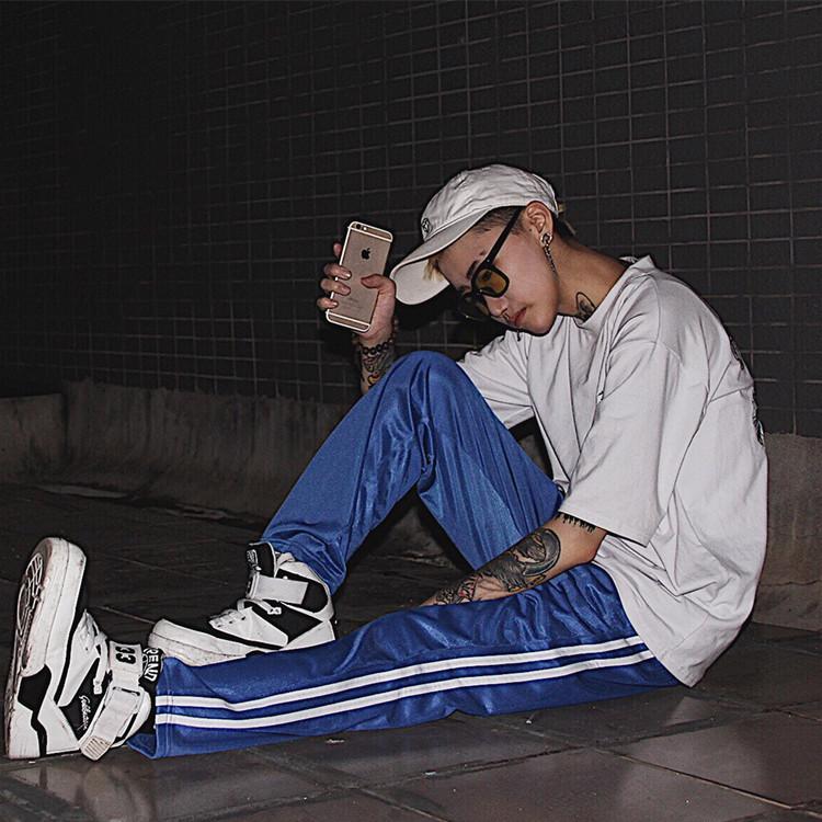 丹杰仕中国有嘻哈TT同款运动裤男直筒宽松休