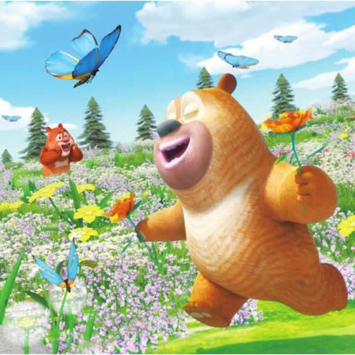 正版包邮 熊熊乐园奇趣玩偶拼图:可爱的熊二 华强方特(深圳)动漫有限