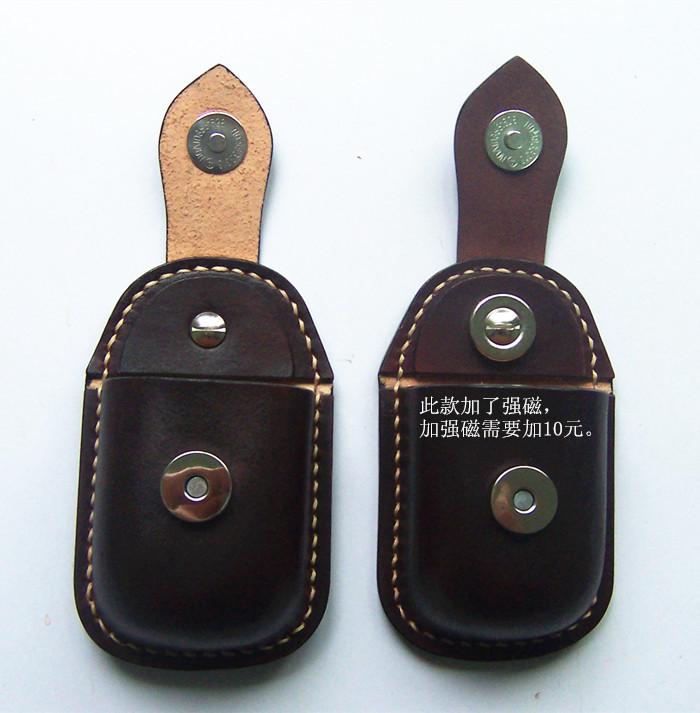 memedi 纯手工制作头层牛皮 植鞣革 钢珠包 腰包 钥匙