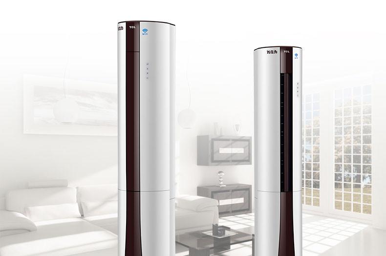 tcl 3匹 变频智能 二级能效 冷暖空调 圆柱柜机kfrd-72lw/ey12bpa
