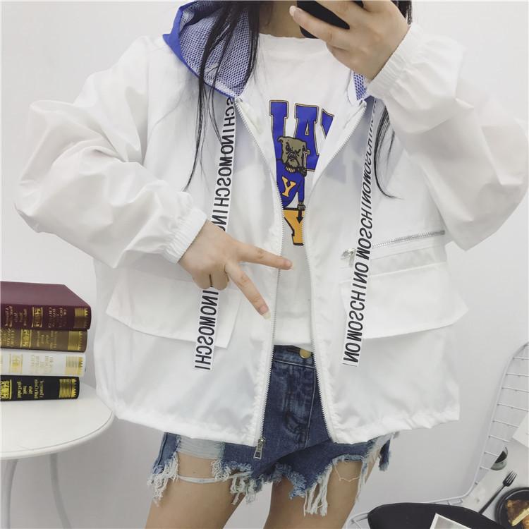 902新款初中学生防晒衣外套女夏装2017新款韩