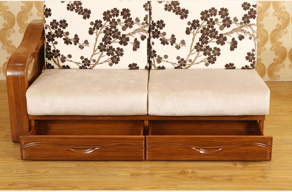 淮木(huaimu) 胡桃木全实木贵妃转角沙发组合 北欧现代/新中式实木