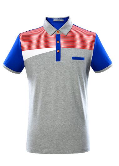 海澜之家男装 2015夏季新品 撞色polo领短袖t恤hntbd2a303a