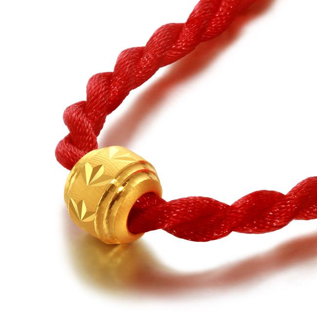 黄金转运珠的红绳是怎么编的?