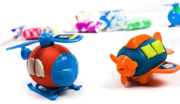 正品智高3d彩泥12色kk橡皮泥粘土玩具小猪动物恐龙飞机昆虫5030 5032
