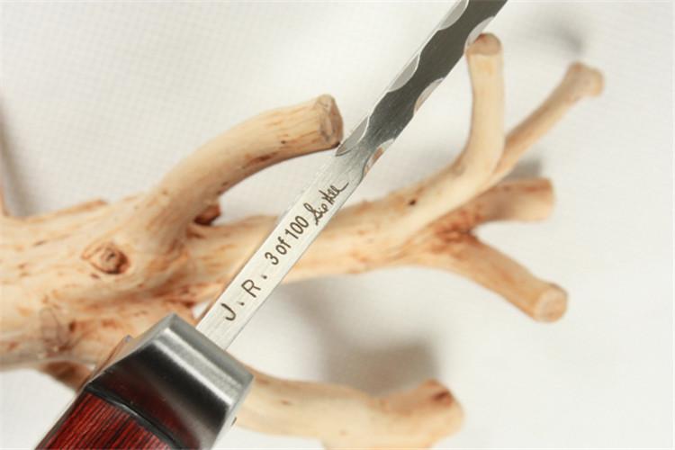 兰博III-设计师吉尔Hibben手签版直刀军刀战术cass绘制构筑物平面图图片