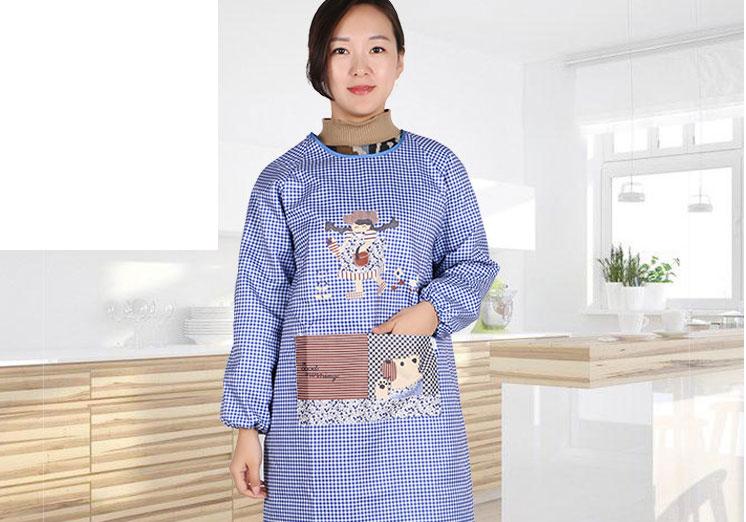 时尚舒适百搭妈妈围裙厨房围裙工作服围裙韩版