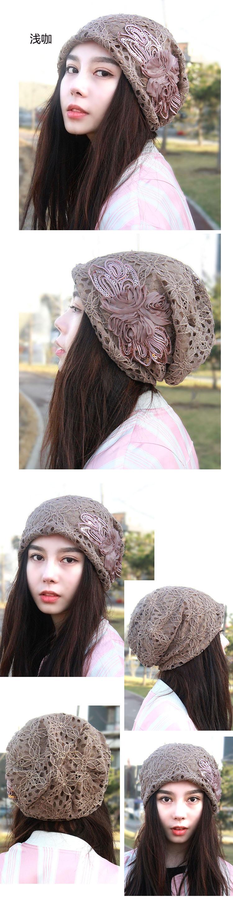 828新款帽子女春夏季包头帽 薄款孕妇帽头巾帽光头帽月子帽化疗帽堆堆