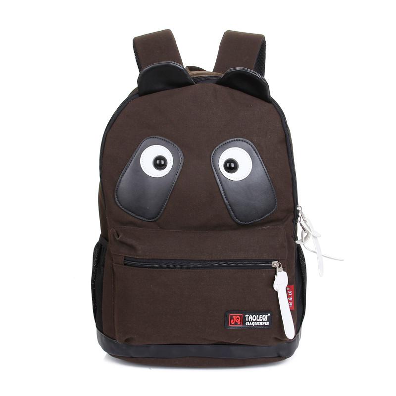 2014新款可爱卡通熊猫背包男女书包中学生双肩包潮流