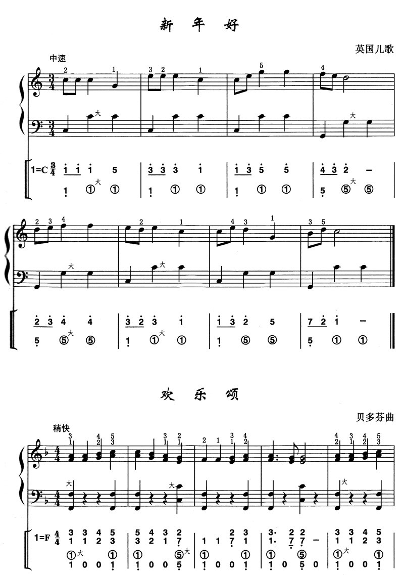 手风琴曲谱:《军队进行曲》_乐谱推荐_中音,图片尺寸:735×985,来自