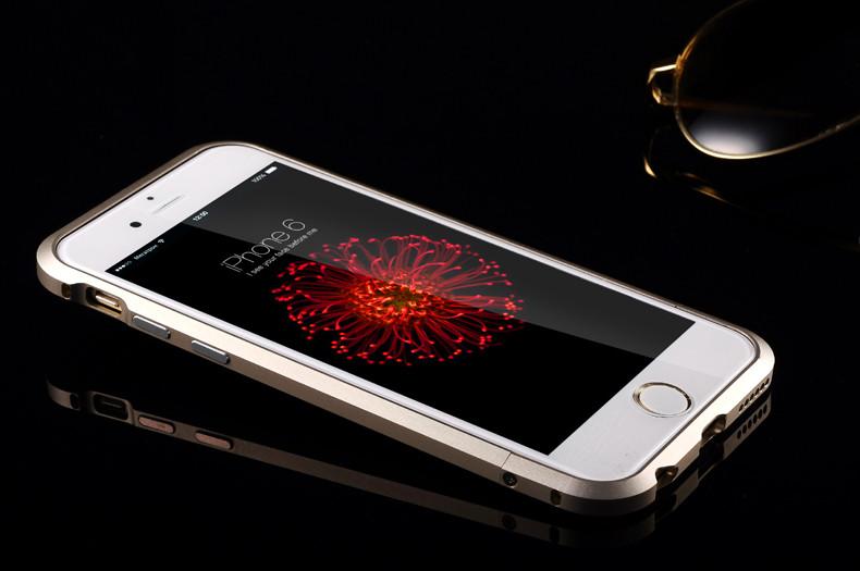 iphone6 plus 金属边框 后盖保护壳 金属边框iphone 6 plu 黑色4.