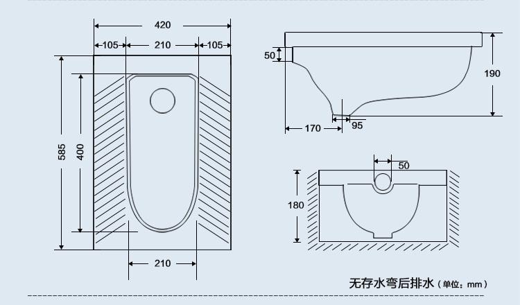 蹲厕空间尺寸平面图